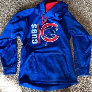 Men's size small Chicago Cubs hooded sweatshirt
